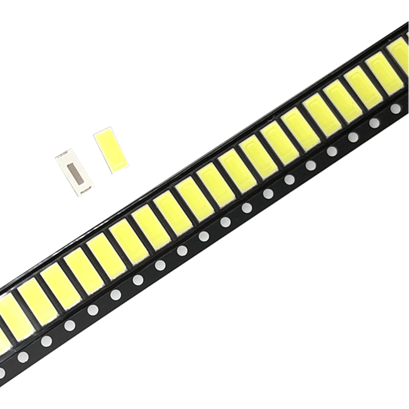 100pcs 7030 <font><b>LED</b></font> <font><b>diodes</b></font> <font><b>1W</b></font> 150Ma 6500K White Light <font><b>SMD</b></font> (6.0~6.2V) image