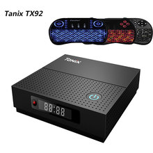Tanix tx92 ТВ Box Amlogic S912 ТВ коробка Восьмиядерный Процессор ОС Android 7.1 Bluetooth 4.1 1000 м LAN dual-Band Wi-Fi 2.4 г 5 г media player