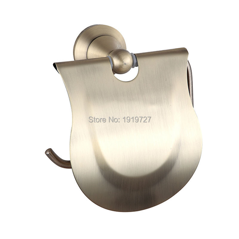 ФОТО Waterproof Toilet Paper Tissue Holder High Quality Classic Unique Design Bronze Color Single Post Tissue Holder With Cover