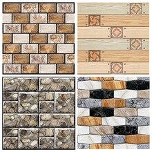 цена на 30*30cm Vintage Brick Textured Wallpaper For Walls Decor Embossed 3D Wall paper Rolls For Bedroom Living room Sofa Wall Sticker