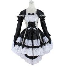 Venta caliente del anime de fantasía mucama cosplay lolita dress traje del funcionamiento de halloween para las mujeres disfraces jl