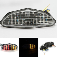New Red Amber Motorcycle Rear Tail Light Integrated Brake Running LED Turn Signals Lamp For Suzuki
