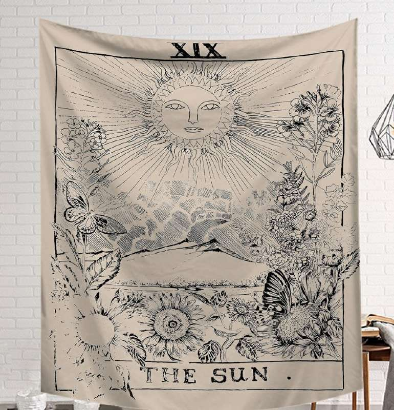 Image 4 - CAMMITEVER Power God Tapestry High Quality Fabric Wall Carpet Table Cloth Beach Cloth Dark Constellation Shawl/Blanket-in Tapestry from Home & Garden