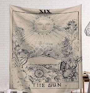 Image 4 - CAMMITEVER Power God Tapestry High Quality Fabric Wall Carpet Table Cloth Beach Cloth Dark Constellation Shawl/Blanket