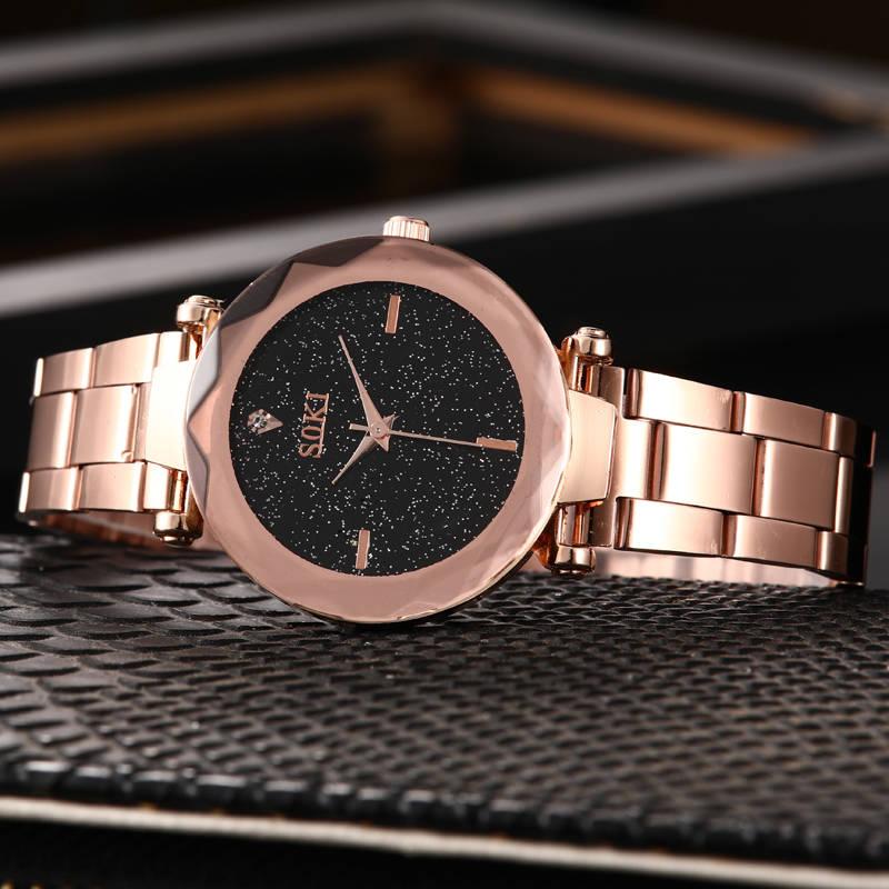 SOKI New Fashion watch women 39 s Rhinestone quartz watch relogio feminino the women wrist watch dress fashion watches reloj mujer in Quartz Watches from Watches