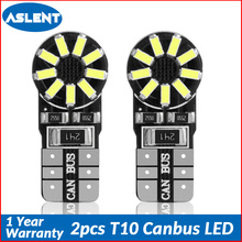 Aslent 2pcs T10 Canbus Error Free  W5W 194 LED Car Light Bulbs 6000K Clearance Door light Turn Signal Reading 12V for Auto