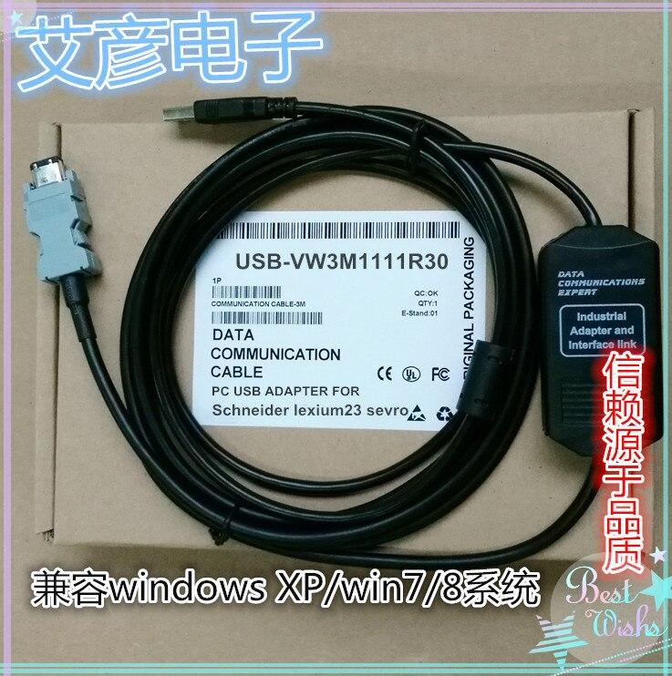 USB Port NEW Lexium-23 Series Servo Debugging Cable Download Line VW3M1111R30
