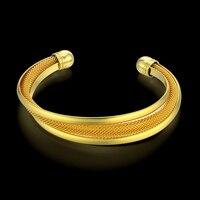 Indian Bangles Gold Plated Turkish Jewelry Christmas Gift Vintage Women Men Cuff Bracelet Supernatural Wedding Jewelry