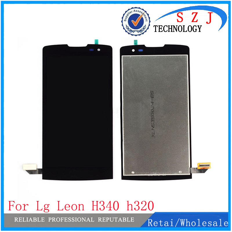 New case For LG Leon H340N H320 H340 H324 C50 MS345 Y50 LCD DIsplay+Touch Panel Glass Digitizer Assembly Free Shipping good quality touch screen digitizer glass lcd display assembly for lg leon h345 h340 n f ar lte c50 ms345 tracking code