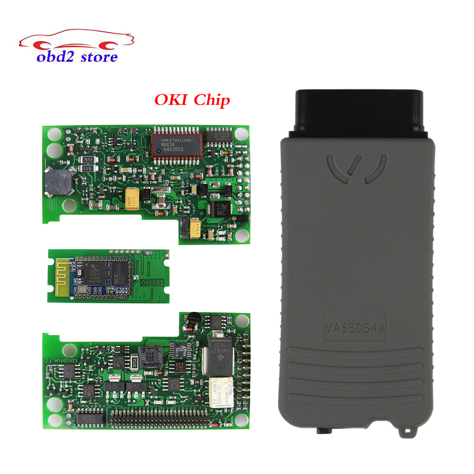 VAS 5054A ODIS V4.2.3 VAS5054A Full Chip OKI Auto Diagnostic Scanner Vas5054 VAS 5054 oki OBD2 Car Diagnostic tool Support UDS idoing special tpms newest technology car tire diagnostic tool with mini inner sensor auto support bar and psi