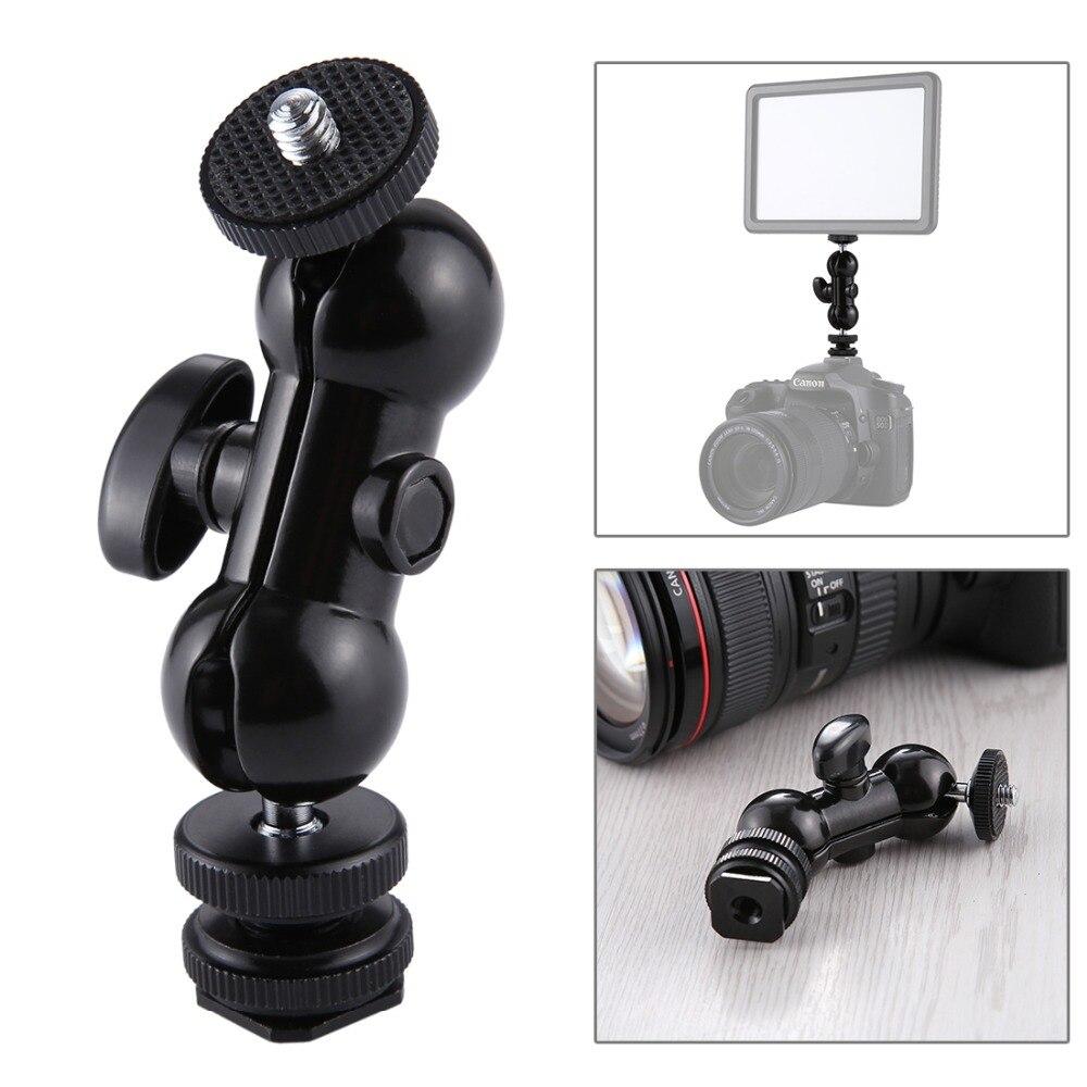 PULUZ ensemble trépied pour Sony RX0 boîtier coque Cage + rotule bras magique + trépied de bureau support + lumière + Kits Microphone noir - 6