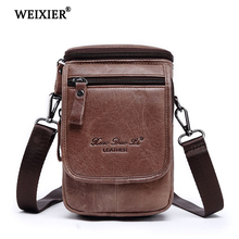 Mens Shoulder bag Leather material Retro Casual British Style High quality Design Multi-functional Large capacity