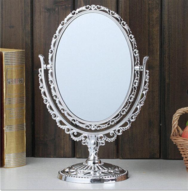 7.8 pulgadas Ampliación Circular Espejo de Maquillaje Doble 2 Sided Forma Redonda Espejo de aumento de Pie Espejo para maquillaje