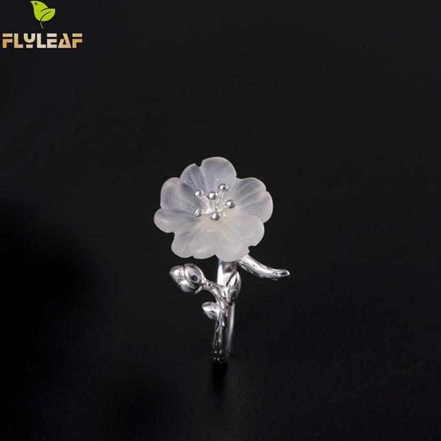Фото женские открытые кольца из стерлингового серебра 925 пробы с