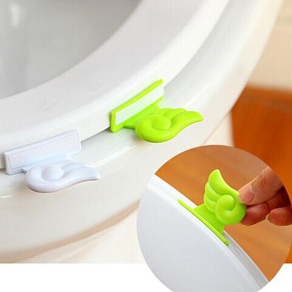 Toilet Lid Lifting Device Angel Wings Toilet Cover Lifting Avoid Touching Handle Bathroom Portable Sanitary Seat Cover Lifter