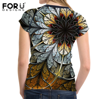 Fashion Women Printing Floral T-Shirt 1