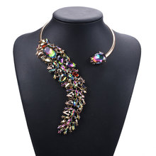 Teardrop-shaped Crystal Chokers Necklaces Luxury Flash Short Clavicle Necklace Exaggerated Women Fashion Jewelry Accessories