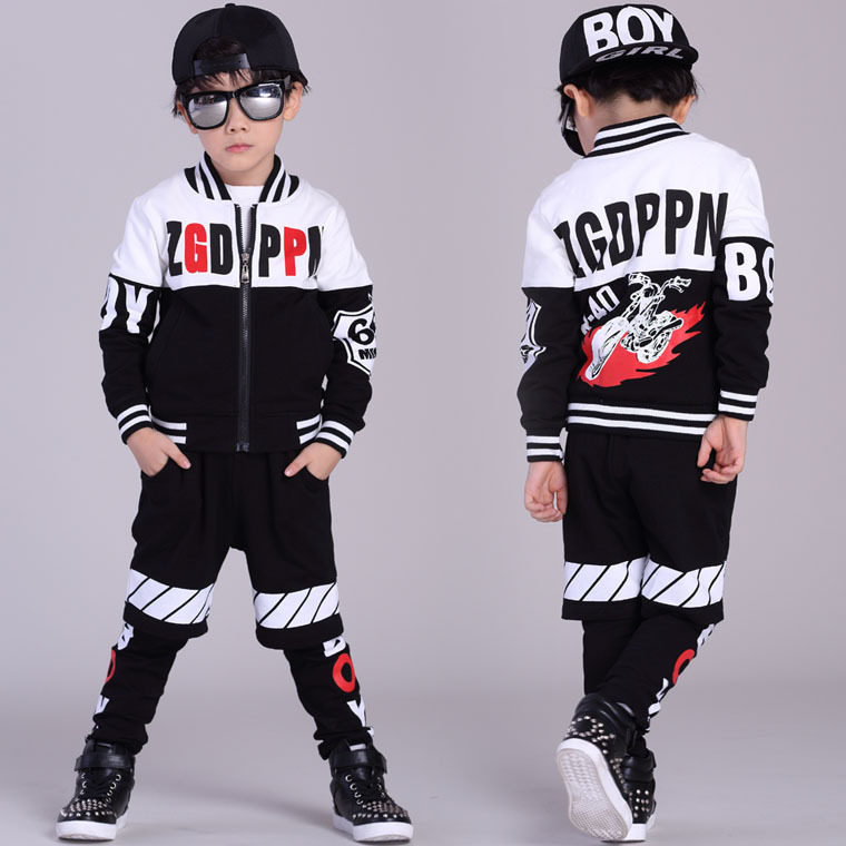 ФОТО Wholesale New Fashion Children's Clothing Spring Children Four-Piece Motion Suit patchwork Jacket/T shirts/Shorts/Legging Sets