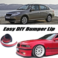 Bumper Lip Deflector Lips For Renault Symbol / Thalia / Citius Front Spoiler Skirt For Tuning / Body Kit / Strip