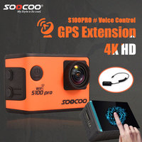 SOOCOO S100PRO 4K Sport Action Camera With Touch Screen And Gyro GPS Extension Model Voice Control