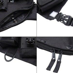 Image 4 - Abbree راديو الصدر تسخير الصدر الجبهة حزمة الحقيبة الحافظة الصدرية تلاعب الصدر حقيبة ل اسلكية تخاطب موتورولا Baofeng UV 5R TYT Wouxun