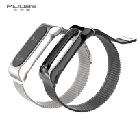 Mijobs Metal Strap For Original Xiaomi Mi Band 2 Strap Stainless Steel Bracelet Wristbands Replace Accessories