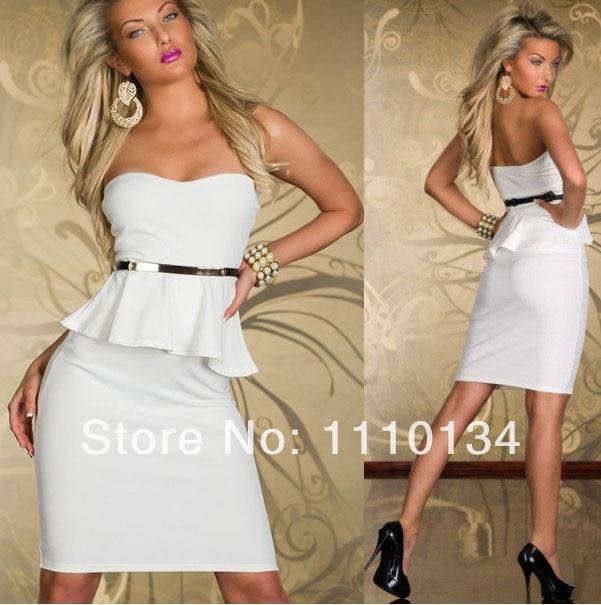 Evening Midi Dress White