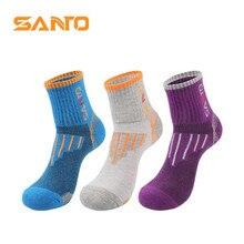 Sports-Socks Outdoor Cotton Women Climbing Quick-Dry 3-Pairs/Lot SANTO/S005