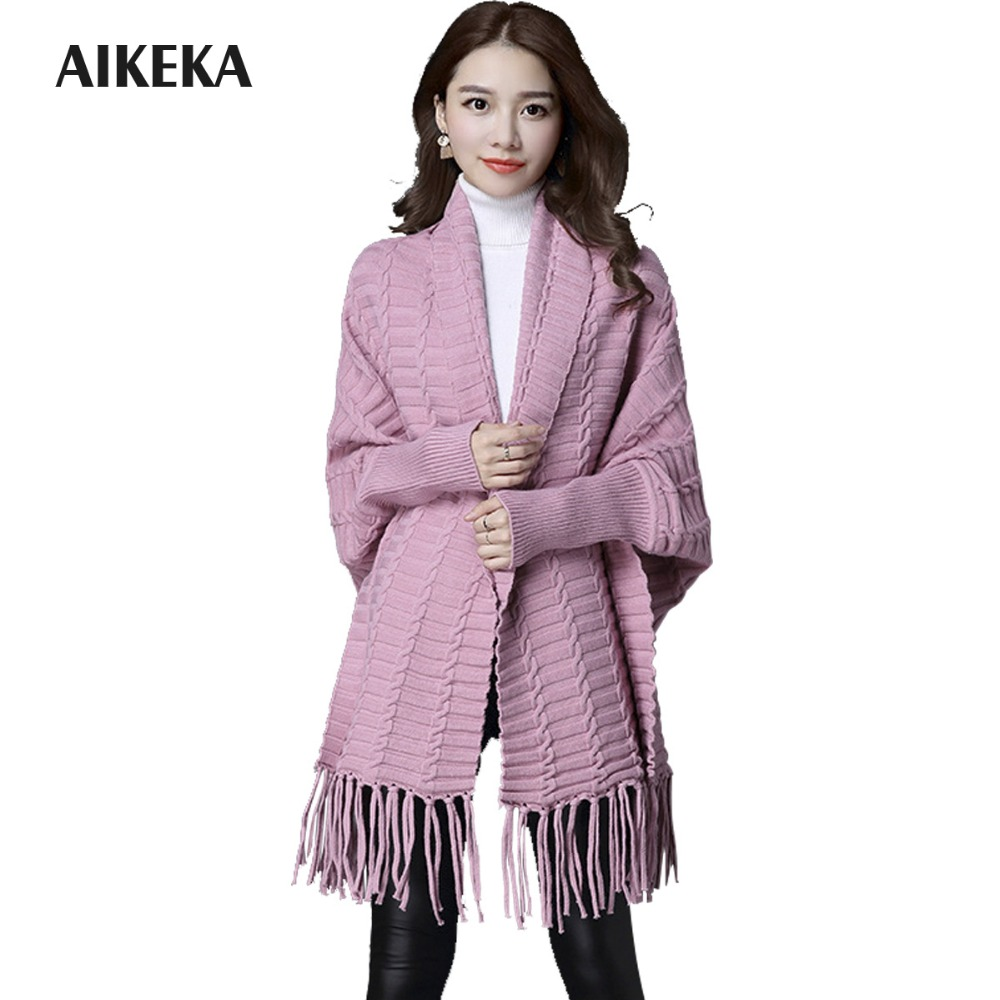 Autumn Winter New Fashion Women Sweater Scarf Collar Long