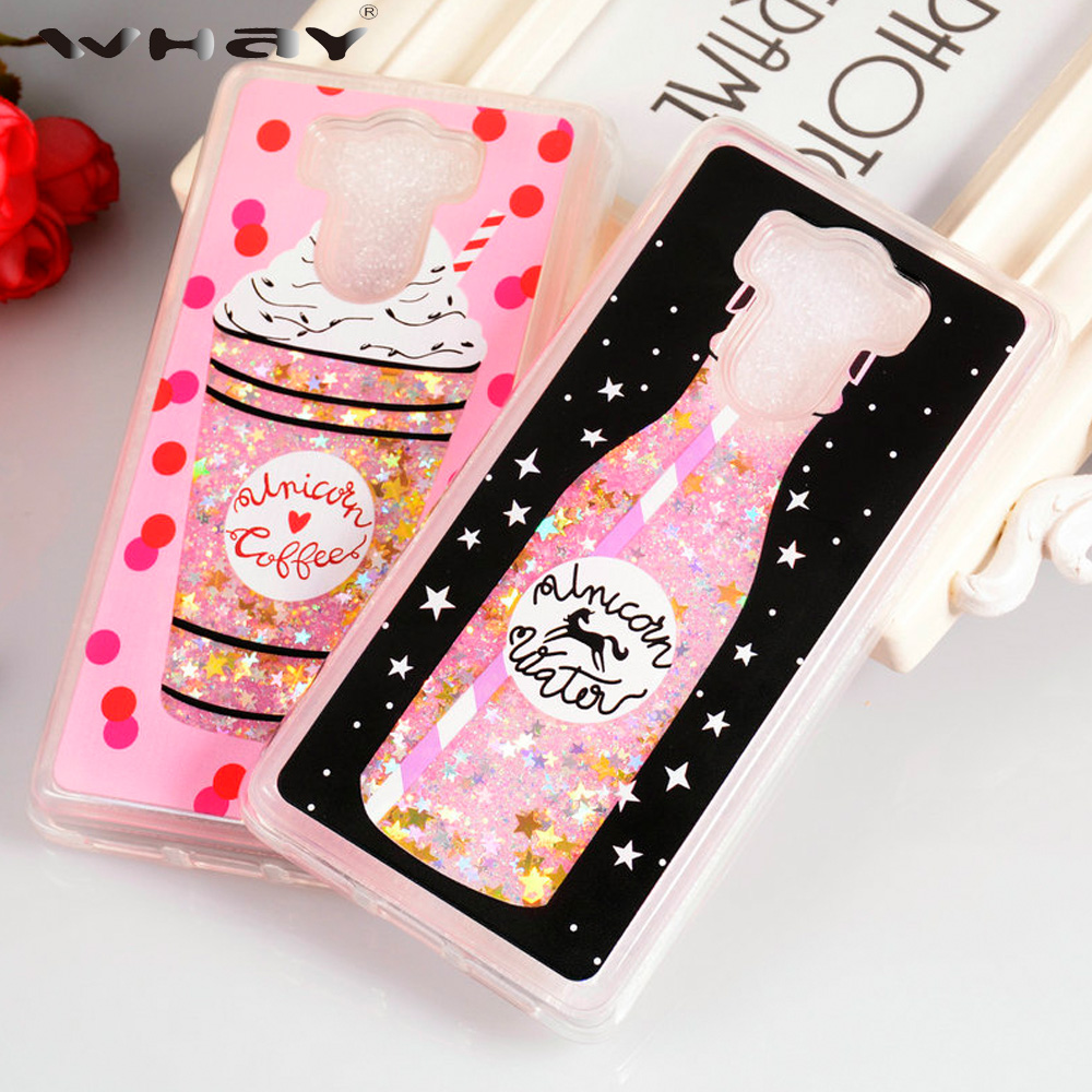 Cover for Xiaomi Redmi 4 Case Quicksand Bottle Silicone Glitter Liquid Case For Redmi 4 Pro Cover Coque Redmi4 Prime