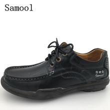 Осень-зима Бизнес Мужские модельные туфли Высокое качество обувь для вождения мужские натуральная кожа повседневная обувь один Оксфорд обувь