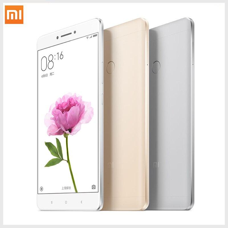 """Xiaomi Mi Max 3GB RAM 64GB ROM Mimax 6.44"""" Snapdragon 650 Hexa Core 4G LTE fingerprint ID cellphone"""