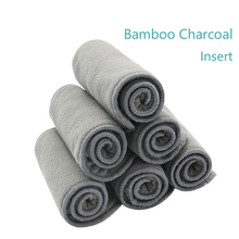 Happy gripe pañal de tela 5 piezas 4 capas de bambú Liner Insertar paño pañal pañal de bambú natural lavable alva bebé pañal de tela