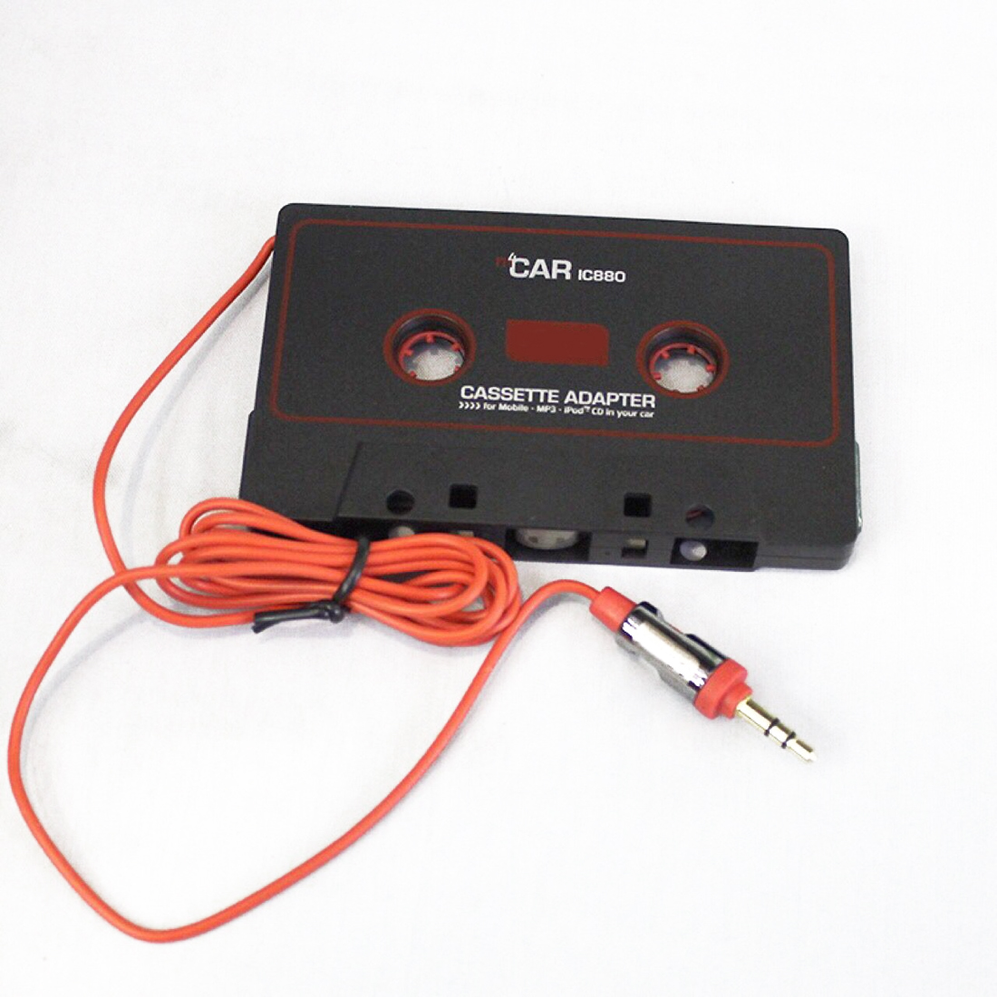 Audio AUX Car Cassette MP3 CD iPod Tape Adapter Converter 3.5mm Flexible Cable