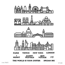 AZSG Paris Venice New York London Clear Stamps For DIY Scrapbooking Decorative Card making Craft Fun Decoration Supplies 10x15cm(China)