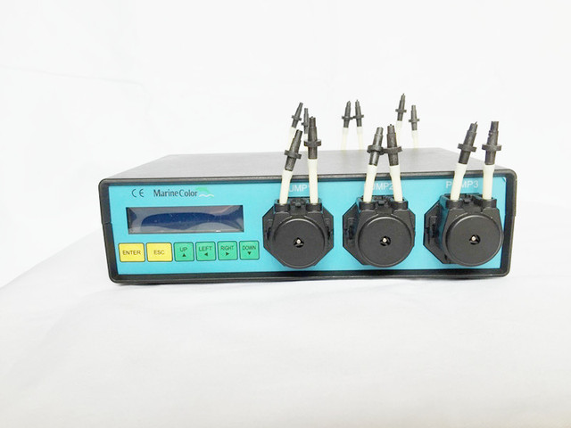 Marine Color Dosing peristaltic pump MCD-6, 6 channel pumpheads,reef coral tank, computer control, ech channel separate program