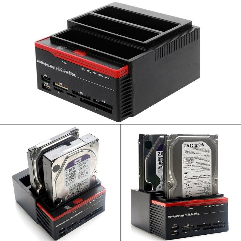 USB3.0 à SATA IDE externe 2.5/3.5 pouces HDD disque dur Station d'accueil lecteur de carte livraison directe