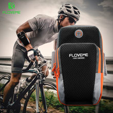 FLOVEME Sport Armband Hand Bag Case For iPhone X XS 6 7 11/11 Pro Cloth Gym Running Pouch Arm Band Mobile Phone Holder Bag(China)