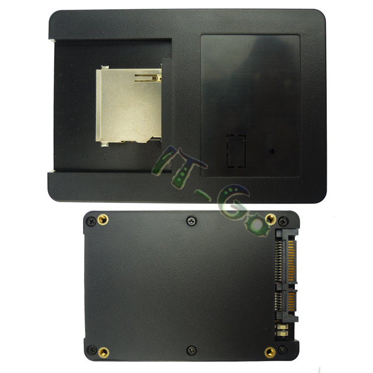 SD SDHC MMC Card to SATA Adapter With Case