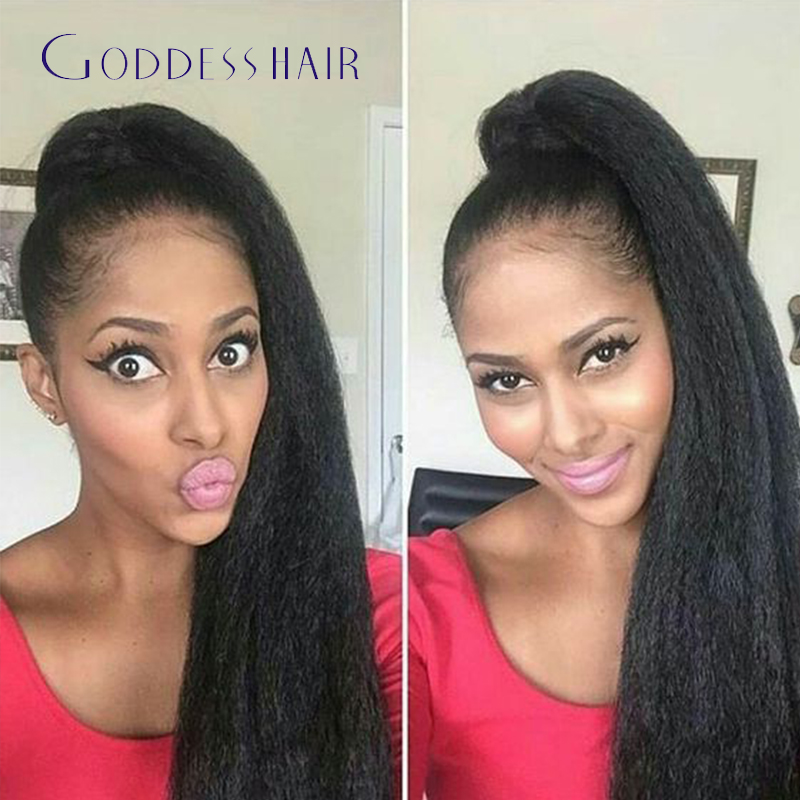 Wholesale Brazilian Kinky Straight Hair Ponytail Natural Hair Human