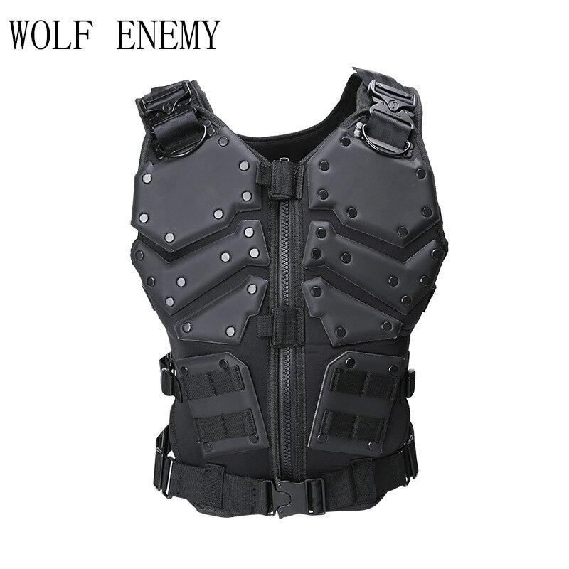 Molle Tattico Militare Dell'esercito di Caccia Da Combattimento Della Maglia Del Corpo di Protezione Del Corpo Nero