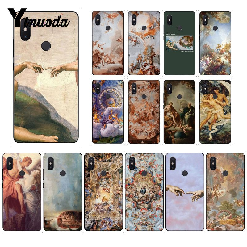 Yinuoda The Creation of Adam Renaissance painting Art Phone Case for Xiaomi Mi 6 Mix2 Mix2S Note3 8 8lite Redmi 5 note5 Note4 4X