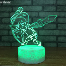The Legend of Zelda Figure 3D Table Lamp Baby Touch Control 7 Colors Changing Acrylic Night Light USB Decorative Kids Gifts недорого