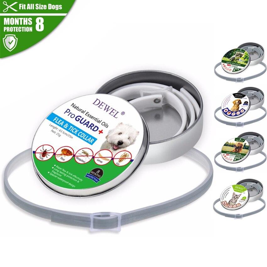 Dewel Dog flea collar Summer Anti insect Cat Dog Collar Anti Flea Mosquitoes Ticks Waterproof Cat