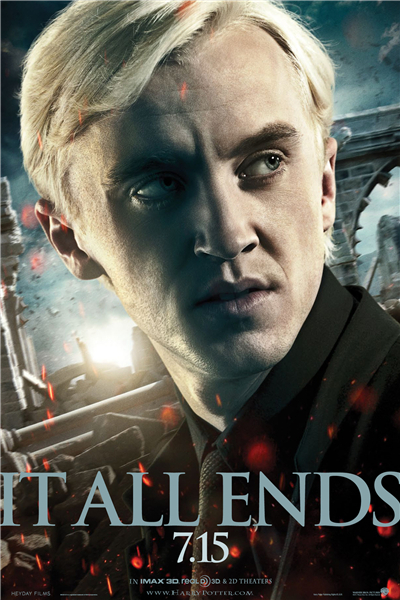 Custom Canvas Art HP7 Movie Poster Draco Malfoy Mural It All Ends Wallpapers Tom Felton Wall Stickers Home Decoration #1036#
