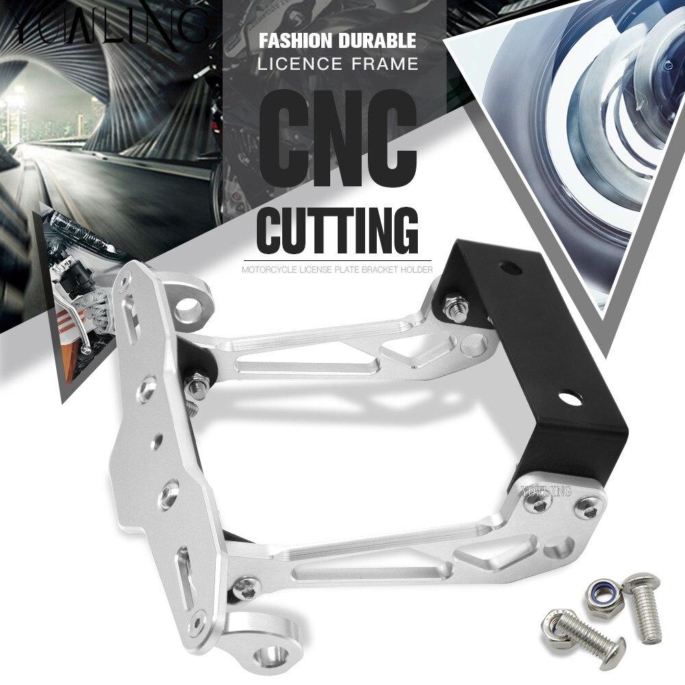 Φ_ΦMotocicleta CNC aluminio Marcos de matrícula soporte de matrícula ...