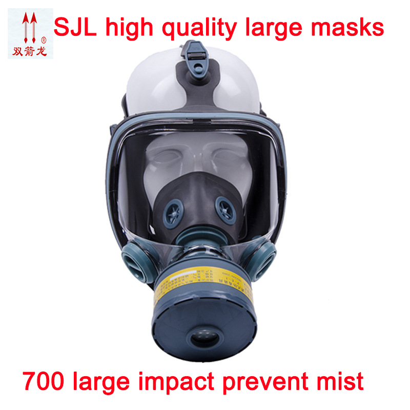 Full face respirator gas mask High quality Medical silica gel industrial safety chemical gas mask boxe respirator mask
