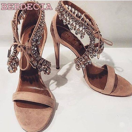Unique luxurious bling bling crystal women sandals thin high heel ankle drape fringe rhinestone shoes lace up wedding sandals aidocrysta bling bling crystal high heel shoes glitter blue platform rhinestone wedding shoes women