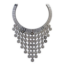Big metal beads maxi colar necklace women vintage retro multilayer dot statement necklace collares mujer jewelry female