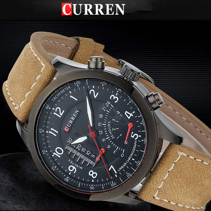 CURREN Mens watches Top brand luxury Watch men High Quality Leather Waterproof Quartz Wrist Watches For Men Relojes Hombre 2017 [zob] 100% brand new original authentic omron omron proximity switch e2e x1r5e1 2m factory outlets 5pcs lot